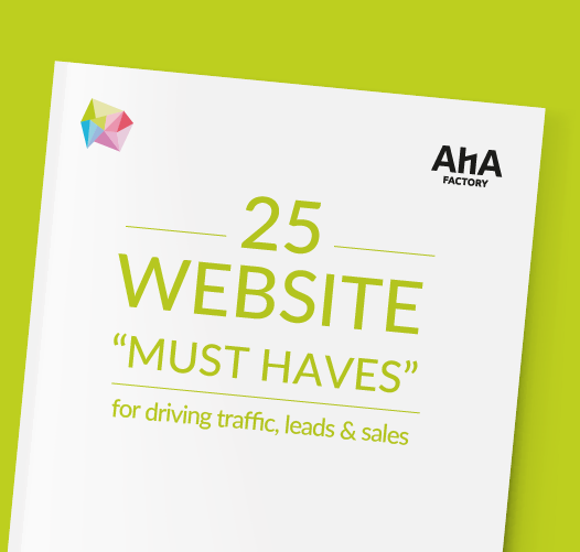 AHA Factory 25 Must-Haves for the Optimal Website